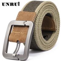 Unrui Knitted Canvas Belt Male Women's Casual Canvas Strap Pin Buckle Strap Men's Belt