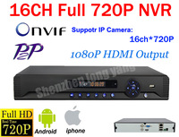 Free shipping DHL!16CH Network standalone NVR Support 12ch 720p/ 4ch HD 1080P 2MP IP Camera for NVR System HDMI Output