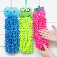 Min. order is $10(mix order) Cartoon animal hanging towel derlook slitless chenille towel hand wipe cloth c333