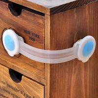 Min. order is $10(mix order) Lengthen multifunctional safety lock drawer lock refrigerator lock single e677