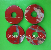 53x8mm New Fashion Jewelry Red Jasper Red River stone Gemstone Donut Pendants Beads Wholesale