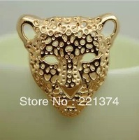 Free shipping 50pcs R70-4x3.5cm gold  hollow Leopard head rivet,Spikes Stud Punk ,DIY rivets accessories Materials