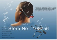 Free shipping !   waterproof MP3 player 8GB For Swimming   (blue, black and red) with retail box