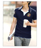 2013 men's clothing personalized turn-down collar male polo shirt male short-sleeve polo Men polo shirts
