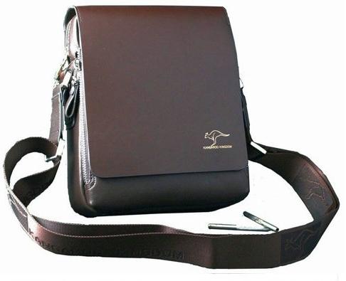 Fashion Kangaroo Mens Leather Crossbody Shoulder Messenger Bag Briefcase 36