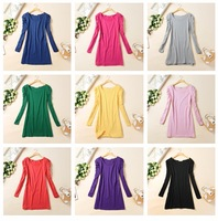 FREE SHIPPING 100 - 130 fashion candy color bubble long-sleeve dress