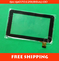 "free shipping 7inch Capacitive touch Digitizer touch panel Glass for 7"" tablet PC/MID FPC-TP070129(86VS)-00"