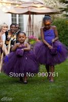 Purple flower girl dress , flower girl tutu dress, custom tutu dress