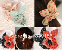 New arrival rabbit ears design Elastic hair bands hair accessory hair rope  headband elastic ponytail holder