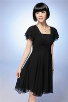 FREE SHIPPING Plus size chiffon short-sleeve rhinestones plus size summer noble fashion one-piece dress