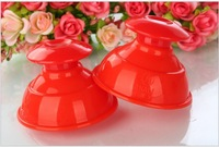 New arrival 5 Piece Red Cupping Glass Silicone Vacuum Cup Anti Cellulite Massage Traditional Chinese Medical Product As Yoga