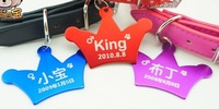 Fashion 62*42mm  crown  Styles  dog pet  id tag for big dog