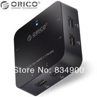 Original ORICO 6 Ports USB 2.0 Hub with Fast Charging Mobile Devices Function & 3A Power Adapter free shipping (White)