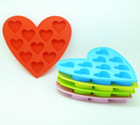 5pcs/lot Sweet Heart shape Silicone Ice Cube Tray Mold Maker  Ice Cream Mold Maker cake Ice Mould DIY ice mold Free shipping