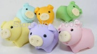 Freeshipping promotion  cartoon cute animal eraser for school children ,MOQ 15 pieces per parcel,