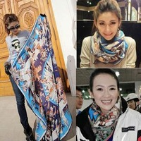 2013 New Zhang Ziyi Scarves Women Cashmere With Autumn-Summer Blue Slightest Purchasing Genuine Shawl Free Shipping SIZE(140*140