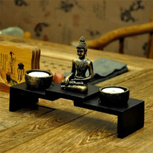 Thai upscale Chinese Zen Buddhist statues candlestick holder candlestick incense censer decorations(China (Mainland))