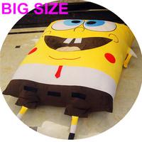Big Size 200X150CM Spongebob Squarepants Stuffed Plush Doll Animals Large Toys Soft Bed PP Cotton Cushion Pillow Free Shipping