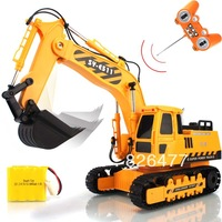 On sales 6 channel wireless super large remote control rc excavator remote control engineering truck toys for children toy car