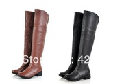 2013 women's boots customize  boots half zipper big drum boots