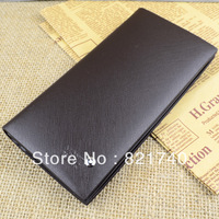 Genuine leather wallet male long design genuine leather wallet medium-long clutch cowhide suit clip