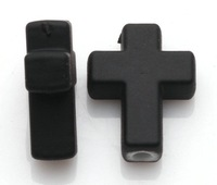 Fashion Jewelry Vintage Black Acrylic Fluorescent Cross Spacer Beads For Bracelet DIY  Jewelry Findings Free  200PCS Z2083
