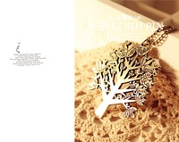 Wholesale Fashion High Quality Vintage Bird The Tree Letter Necklace For Woman  JN-019