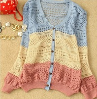 Free shipping-Spring& autumn ladies' thin cotton cardigans sweaters good quality