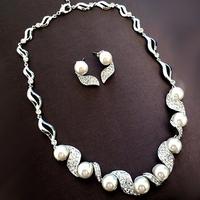perolas Bride jewelry set accessories rhinestone pearl wedding gift yarn banquet formal dress necklace d  perla