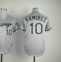 American Baseball Jersey #10 Alexei Ramirez Grey Cool Base Baseball Jerseys Men's Size 48-56 All Stitched(Sewn on)