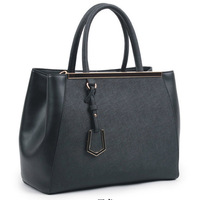 2013 new fashion retro leather handbag leather bag handbag diagonal package cross grain spell color authentic bags