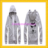Free Shipping Brand New Stocked One Piece Luffy Zipper Hoody Jacket,0.6kg/pc
