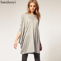 Haoduoyi ultra long batwing long-sleeve shirt T-shirt loose knitted t-shirt 2 6 full
