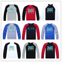 High Quality Winter Cotton Men Long Sleeve Sweatshirt BLVD Tree Crewneck Cheap Sport Pullover Free Shipping