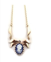 Women fur jewelry Texture retro relief portrait gold necklace girls body jewelry free shipping