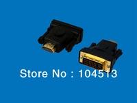 DHL Free shipping DVI To HDMI Male Converter Adapter Black color,500pcs/lot