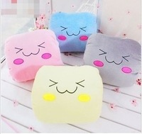 Free shipping 4 colors (blue,yellow,gray,pink) bread plush toy pillow cushion nap pillow birthday gift 1pc