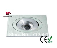 Free Shipping 1W 3W 60mm Square High Power LED Downlight, LED Down Light, LED Square LED Down lamp