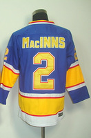 #2 Al Macinns Men's Classic Vintage Blue Throwback Hockey Jersey