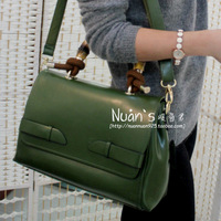 Fashion 2013 women's genuine leather handbag first layer of cowhide tspj handbag messenger bag big bags