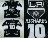 free shipping ice hockey jersey home black la kings Mike Richards jersey #10 cheap jersey professional wholesale hockey jersey