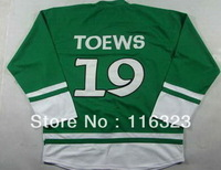 Wholesale-Jonathan Toews #19 Green St. Patrick's Hockey Jersey Size:48~56+Mix Order,Free Shipping