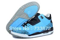2013 new brand cheap men j3 sports sneakers J jd 3 III air low retro powder blue basketball shoes blue/black/white
