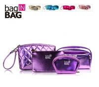 Free shipping! New Fashin 4 sets 5 Colors PU day clutch Bag Storge Bag Cosmetic Bag  F674