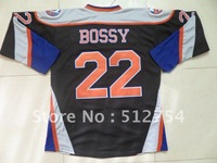 Free Shipping,Wholesale Ice Hockey Jersey, #22 Mike Bossy Hockey jersey,Embroidery logos,size 48-56,mix order