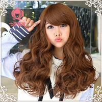 Wig female wig long roll bulkness big wave wig girls long curly hair