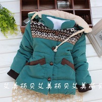 2013 winter female child children wadded jacket pocket outerwear jyz