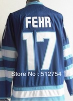 Free Shipping,Wholesale Ice Hockey Jersey, #17 Eric Fehr Hockey jersey,Embroidery logos,size 48-56,mix order