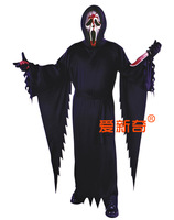 Free Shipping Halloween party clothes male bleed the mask knife  with Big Discount