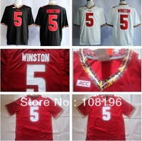 2013 New Florida State Seminoles (FSU) Jameis Winston 5 College Football Jerseys size M~XXXL ,Mix Order,Free Shipping